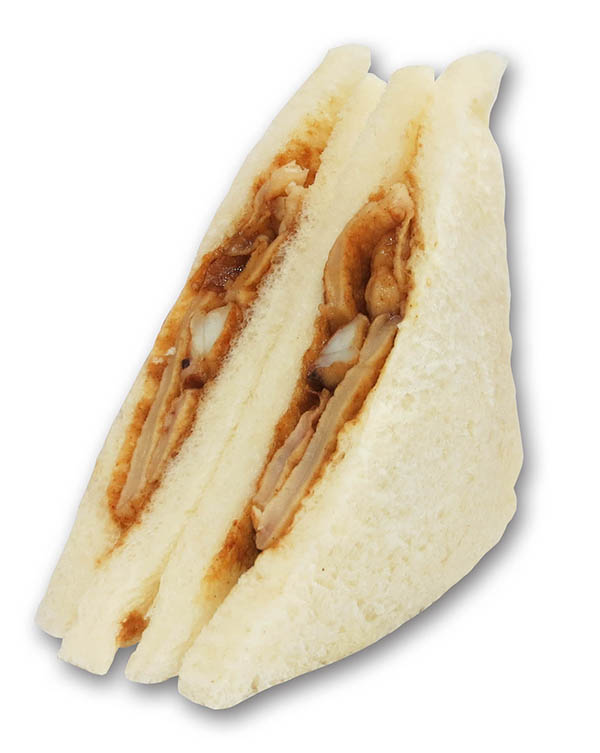 阪神名物いか焼き!ダイヤ製パン阪神梅田店1周年記念サンドです。293kcal