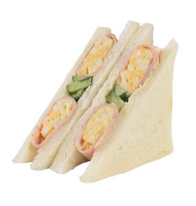 見た目にも楽しいサンドイッチ。436kcal